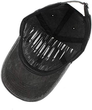 JONATHAN FORSTER Merce-des Be-nz Logo Unisex Adjustable Vintage Cotton Denim Baseball Cap Dad Hat Black