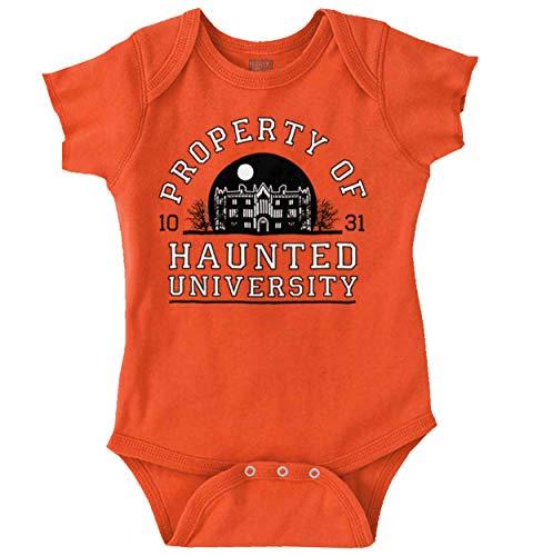 Brisco Brands Haunted University College Halloween Scary Romper -