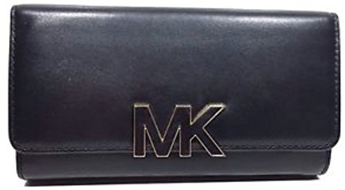 Michael Michael Kors Florence Leather Large Billfold Wallet (One Size, Black (0743) /Gold) by MICHAEL Michael Kors