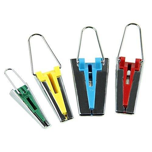 Tia-Ve Set di 4 strumenti da bordatura di nastri e quilting per strisce di tessuto, misure: 6-12-18-25 mm