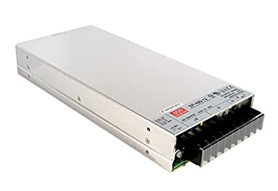 """Mean Well SP-480-48 Enclosed Switching AC-to-DC Power Supply, Single Output, 48V, 0-11A, 480W, 1.7"""" H x 5.0"""" W x 10.9"""" L"""