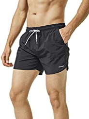 MaaMgic Mens Swim Trunks with Mesh Lining Quick Dry Mens Bathing Suit Shorts