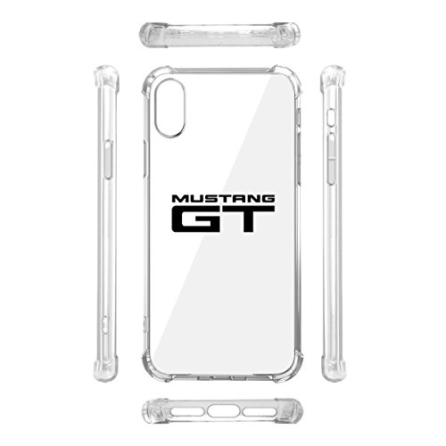 Mustang Polyurethane - Ford Mustang GT iPhone X Clear TPU Shockproof Cell Phone Case