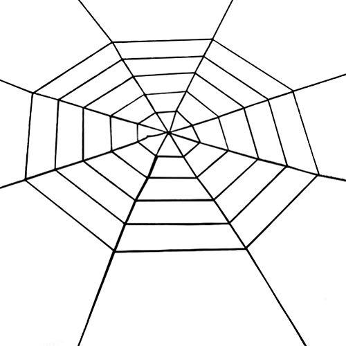 Spiders Web for Halloween Large Big Spider Outdoor and Indoor Halloween ()