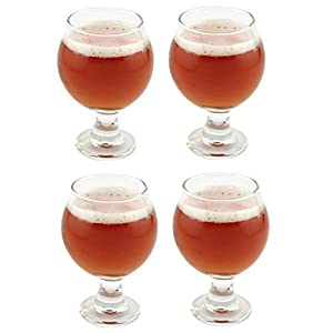 Libbey Belgian Beer Taster Glass 5 oz – 4 Pack w/ Pourer