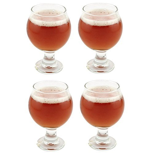 Libbey Belgian Beer Taster Glass 5 oz - 4 Pack w/ Pourer by Libbey