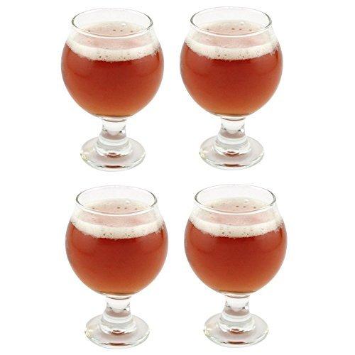 Beer Glass Sampler - Libbey Belgian Beer Taster Glass 5 oz - 4 Pack w/ Pourer