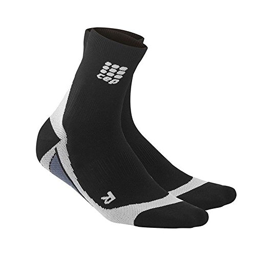 CEP Mens Dynamic+ Cycle Short Socks (Black/Grey) Size: IV