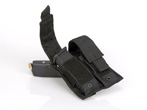 Charlie Delta Tactical Black MOLLE Double Pistol Magazine Pouch, Fits Double Stack Mags