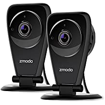 Zmodo EZCam Pro - 1080p HD Wireless Kid and Pet Monitoring Security Camera with Night Vision, Two Way Audio, and Cloud Recording -2 pack
