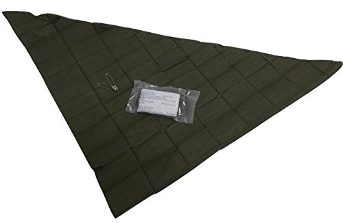 USGI Military Cravat Triangular Muslin Bandage, NSN 6510-00-201-1755, USGI Issue (SET OF 3)