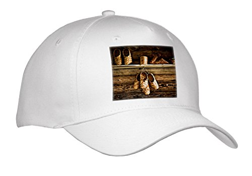 3dRose Alexis Photography - Objects - Vintage Bast Shoes and Other Bast items On a Wooden Wall - Caps - Adult Baseball Cap (Cap_270425_1) from 3dRose