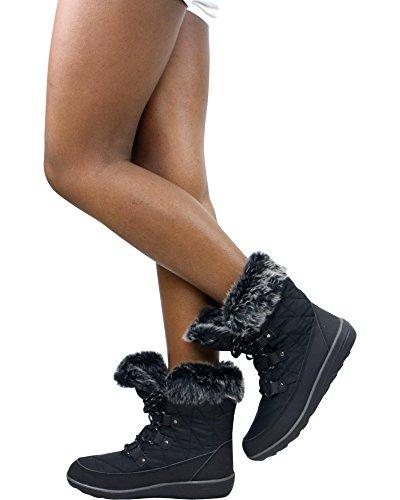 Refresh Dames Hike-01 Waterbestendige Laarzen Black_short