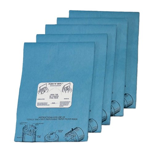 Mastercraft Paper Filter Bags for use with Mastercraft 2015DAF and Mastercraft EnviromasterP41515-WAF. Disposable Paper Filter Bag - 2Ply that is glued top and bottom, sold in a 5 pack. Made in the U.S.A. (2 Ply Bag)