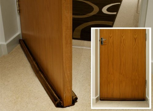 Twin Draft Guard - For Doors & Windows up to 36 Inches (brown) (As Seen On Tv Twin Draft Guard)
