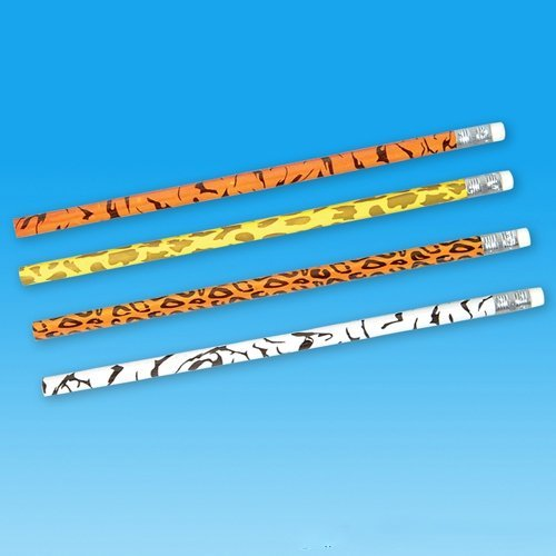 Safari Animal Print Pencils - 12 per (Animal Print Pencils)