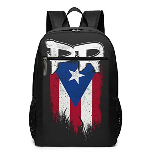 Multifunctional Backpack Puerto Rico Pr Flag School Backpacks Casual Durable Student Bag Laptop Bag Business Bag Suitable For Travel