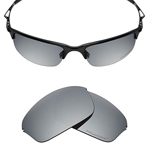 (Mryok+ Polarized Replacement Lenses for Oakley Half Wire 2.0 - Silver)