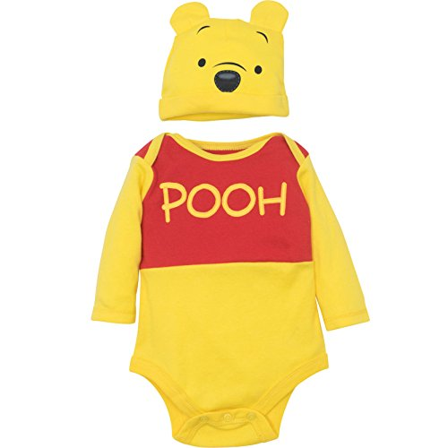Disney Winnie The Pooh Baby Boys' Costume Bodysuit and Hat Set, Yellow (6-9 Months) - Pooh Suit