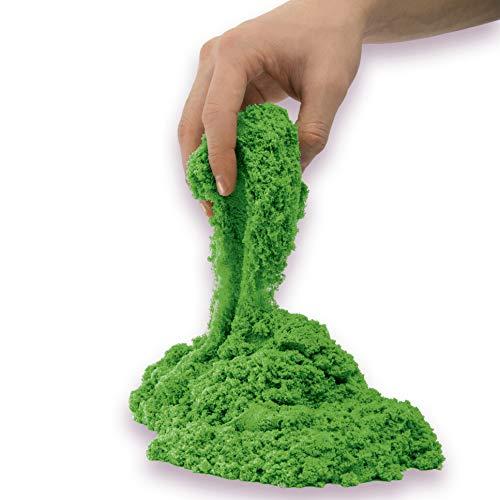 Kinetic Sand The Original Moldable Sensory Play Sand, Green, 2 Pounds ()