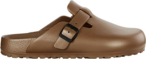 Birkenstock Sandals 1002766 Boston EVA Metallic 38 Brown (Birkenstock Clog Sandal)