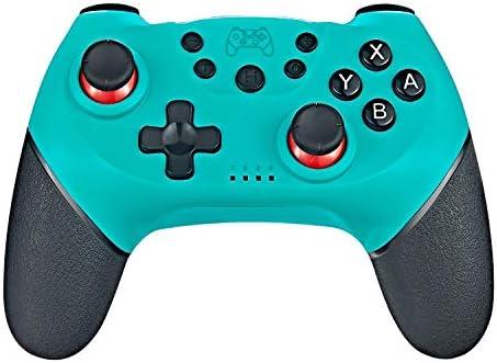 CYFC Nintend用6軸ハンドルワイヤレスのBluetoothゲームパッドでスイッチコンソールの場合プロNS-スイッチProのゲームジョイスティックコントローラを切り替えます (Color : Green)