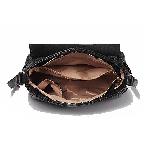 à téléphone mignon 8611black en de les embrayage véritable sac pour à vache en peau Sacs de cuir bandoulière petits soirée main femmes sacs H4RWqT
