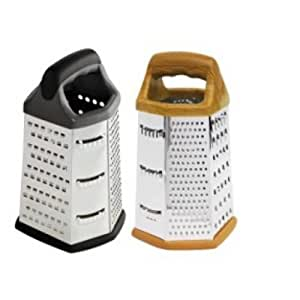 HDS Trading CG10362 6 Sided Cheese Grater, Stainless Steel Finish