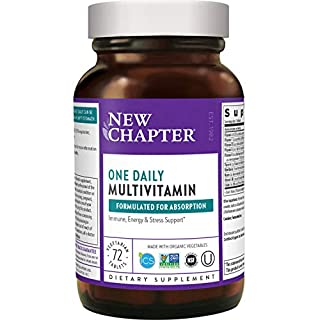 New Chapter One Daily Multivitamin (Formerly Only One) with Fermented Probiotics + Whole-Foods + Vitamin D3 + B Vitamins + Organic Non-GMO Ingredients - 72 ct (Packaging May Vary)