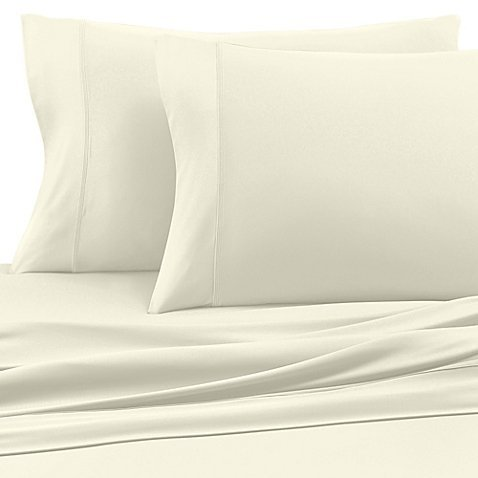 (COOLEX Ultra Soft Pillowcases Set of 2 - Moisture Wicking Pillow Cases - Cool Wrinkle Free and Fade Resistant (Standard, Ecru))