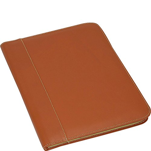 Piel Leather Letter-Size Padfolio, Saddle, One Size