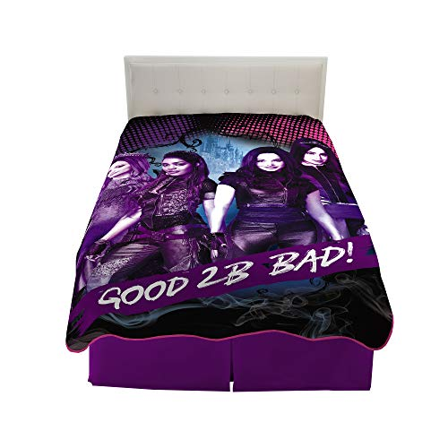 Franco Kids Bedding Super Soft Plush Microfiber Blanket, Twin/Full Size 62 x 90, Disney Descendants 3