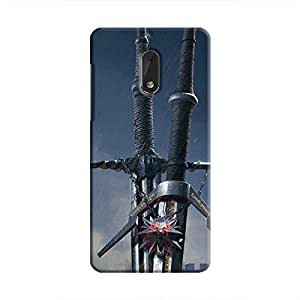 Cover It Up - Witcher Blades Nokia 6 Hard Case