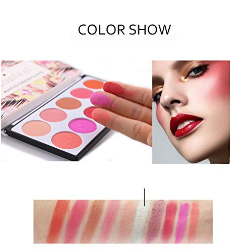 Aviat 10 Colors Concealer Palette Blush Smooth Makeup Contour Face Grooming Foundation Powder Repair Defect for Blemish, Acne, Scars (Instant Smooth Compact Highlighter)