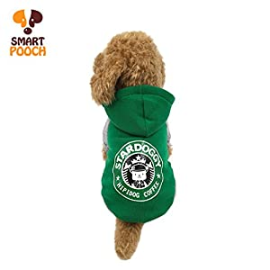 Puppy Dog Pet Extra Winter Warm Fleece Stylish Hoodie Clothings Jumpsuit Jacket Coat Costume Outfit Sweatshirt Doggy Clothes by Smart Pooch