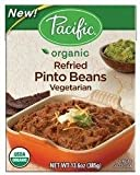 Pacific Natural Foods Organic Refried Pinto Beans - Vegetarian 13.6 oz (385 grams) Pkg by Pacific Natural Foods