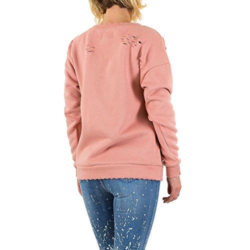 Sixth June Destroyed Sweatshirt Für Damen , Apricot In Gr. S bei Ital-Design
