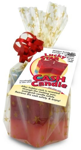 The Original Cash Candle, Real Money Inside! - Star Money Candle with $1 to $50 Inside Each Candle!!