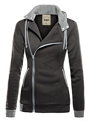 Zipper Hooded Sweatshirt Jacket - 7