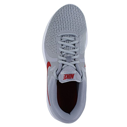 NIKE Mens Revolution 4 (4E) Wolf Grey Gym Red Stealth Size 7.5