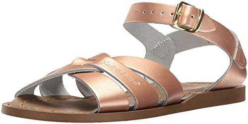 Salt Water Sandals by HOY Shoe Girls' Salt Water Original Flat Sandal, Rose Gold, 5 M US Toddler