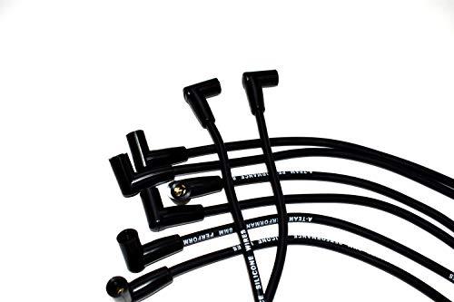 Amazon Com A Team Performance 8 0mm Black Silicone Spark Plug Wires