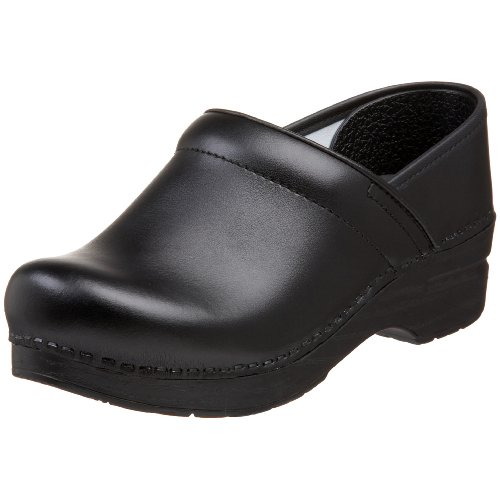 Dansko Women's Wide Professional Clog,Black Box,38 W EU / 7.5-8 D(W) US (Clog Black Oiled)