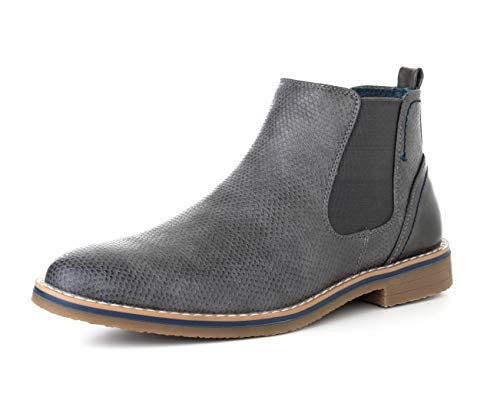 alpine swiss Men's Nash Chelsea Boots Snakeskin Ankle Boot Genuine Leather Lined Gry 11 M US by alpine swiss