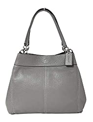 Coach F57545 Lexy Pebble Leather Shoulder Bag Sv Heather Grey