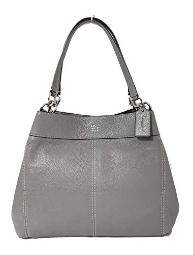 Coach F57545 Lexy Pebble Leather Shoulder Bag (SV/Heather ()