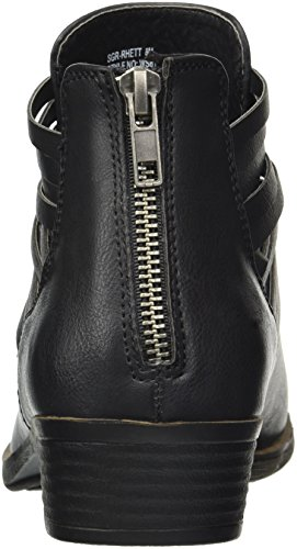 Ankle Short Cross Criss Rhett Boho Distressed Women's Black Boot with Straps Bootie Sugar Casual IqXTxwxR