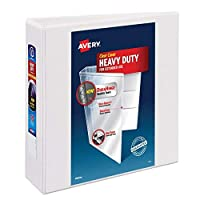 """Avery - Carpeta de anillas de 3 """"para trabajos pesados, con anillo One Touch EZD, papel de 8,5"""" x 11 """", 1 carpeta blanca (79193)"""