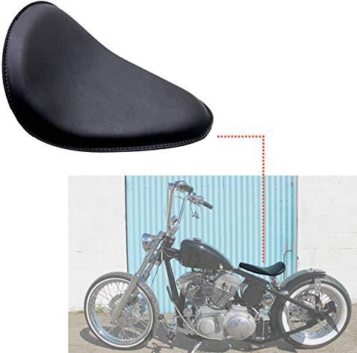 INNOGLOW Motorcycle Cushion SOLO Seat Black For Harley Honda Yamaha Kawasaki Suzuki Sportster Chopper Bobber Custom