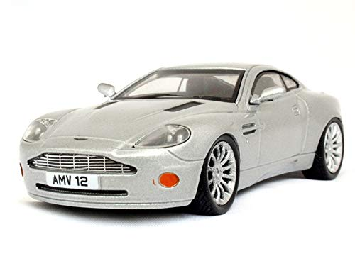 Aston Martin V12 Vanquish Silver 2007 Year Luxury Sports Car 1/43 Scale Collectible Model Vehicle